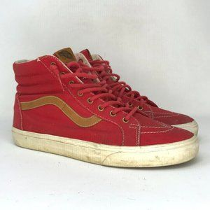 Vans Mens Off The Wall Red Skate Shoes Size 11